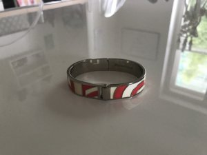 Armlet white-bright red