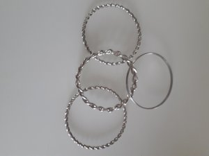 Bijou Brigitte Bangle silver-colored