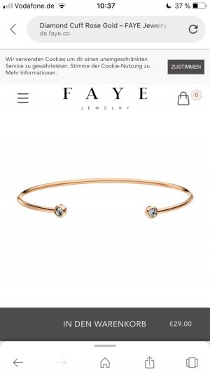 Bangle rose-gold-coloured