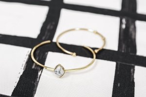 Armlet gold-colored-white