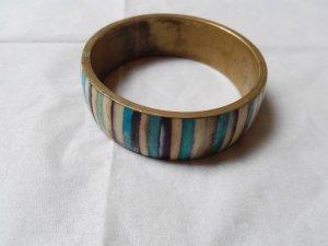 Braccialetto azzurro Metallo