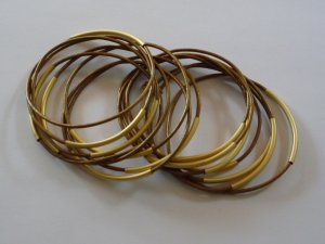 Bangle gold-colored-brown