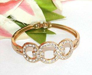 Armreifen Gold Strass gr. S Luxus Design