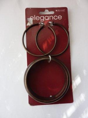 Armreifen Ohrringe Set braun Holz Ethno Style