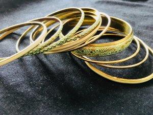 Armreifen-Set (11 Stück) -  in Gold, Weiß und Mint