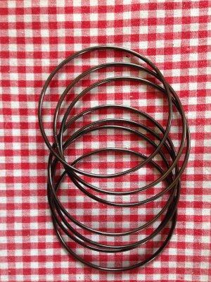 Bangle antraciet-zilver
