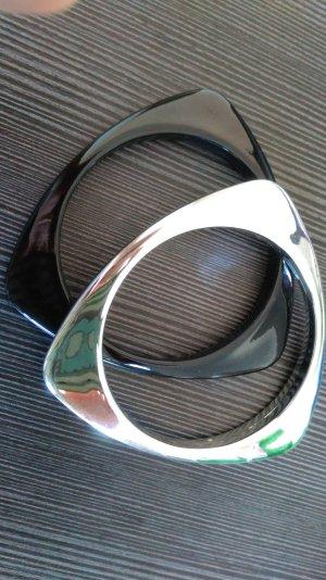 Armreifen Set schwarz Silber 2 Stück ungetragen / super Zustand.