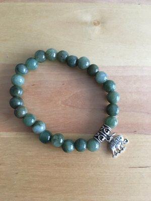Pearl Bracelet forest green-green
