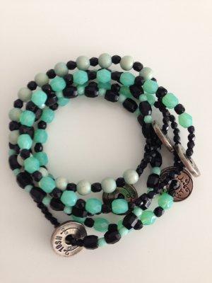 Bijoux de bras noir-turquoise