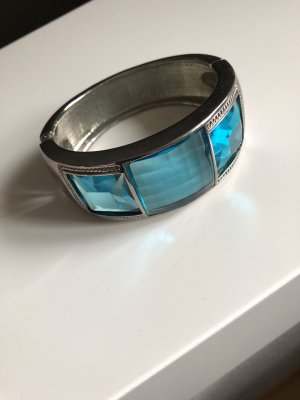 Armlet silver-colored-light blue