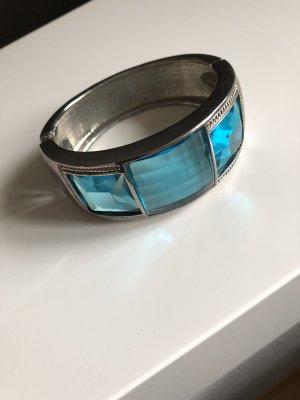 Bracelet de bras argenté-bleu clair