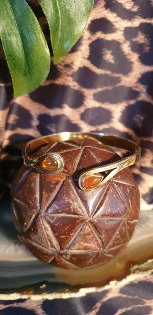Bracelet de bras orange fluo-doré