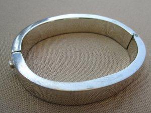 Brazalete color plata plata verdadero