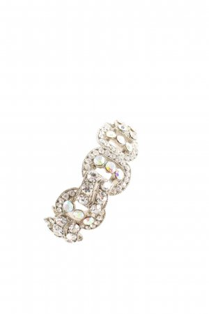 Armlet silver-colored glittery