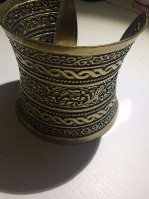 Mango Brazalete color oro-color bronce