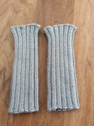 Legwarmers silver-colored-light grey cotton