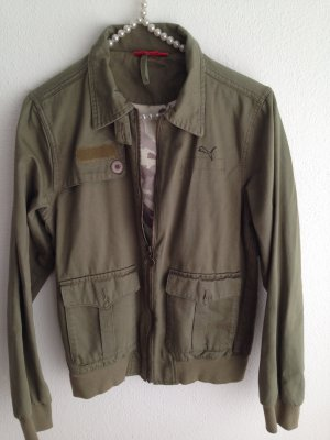 Army-Blouson, olive mit Camouflage Innenfutter