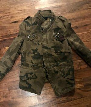 Army Jacke mit Steinchen