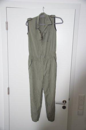 Zara Pantalon gris vert lyocell
