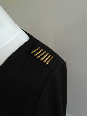 Army Style Bluse schwarz 3/4 Arm