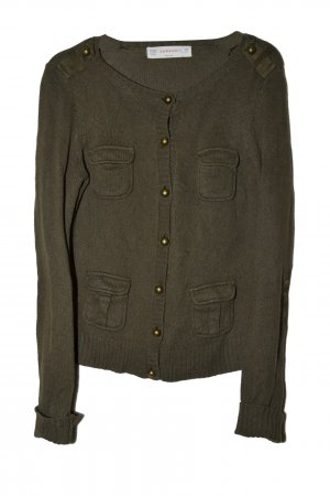 Army Style Cardigan in Dunkelgrün