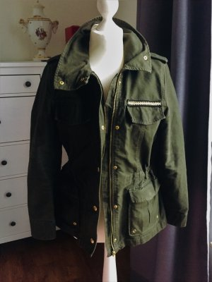 H&M Veste militaire vert forêt coton