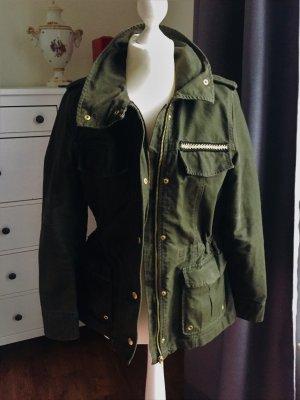 H&M Militair jack bos Groen Katoen