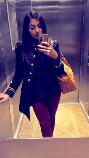 Zara Militair jack goud-donkerblauw