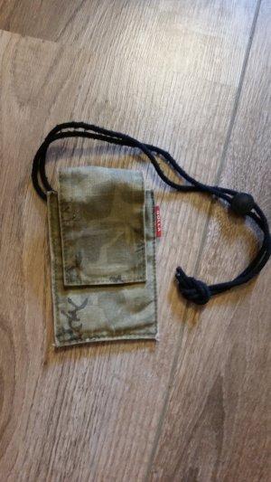 Étui pour téléphone portable vert olive-vert forêt