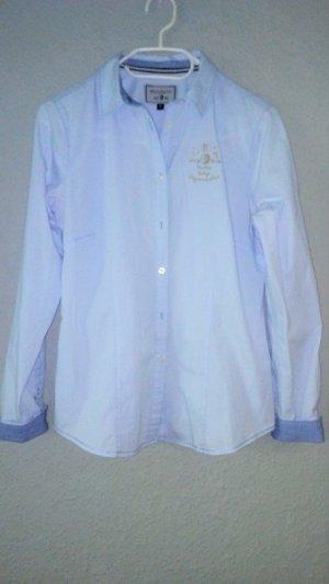 Arqueonautas Blouse à manches longues bleu azur-bleuet tissu mixte