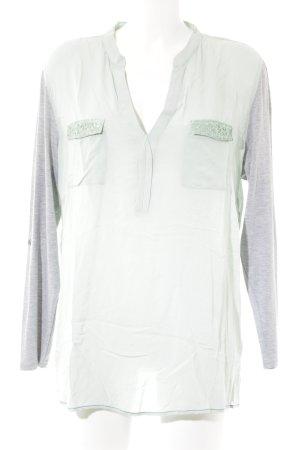 Arqueonautas Empiècement de blouses turquoise-gris clair style décontracté