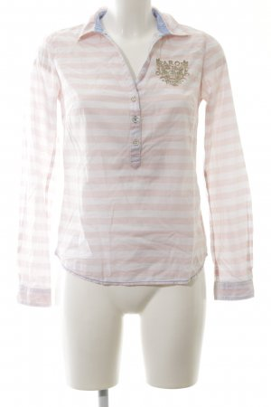 Arqueonautas Shirt Blouse white-pink striped pattern casual look