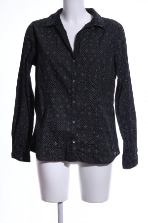 Arqueonautas Shirt Blouse black abstract pattern business style