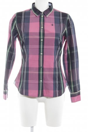 Arqueonautas Shirt Blouse neon pink check pattern casual look