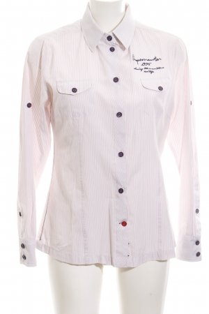Arqueonautas Shirt Blouse natural white embroidered lettering casual look