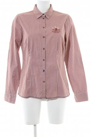 Arqueonautas Checked Blouse red-natural white check pattern casual look