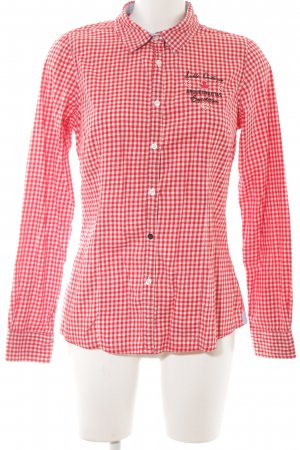 Arqueonautas Long Sleeve Shirt red check pattern casual look
