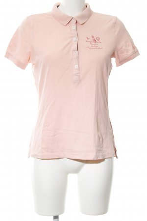 Arqueonautas Polo shirt nude gedrukte letters casual uitstraling