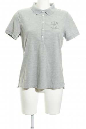 Arqueonautas Polo-Shirt silberfarben Casual-Look
