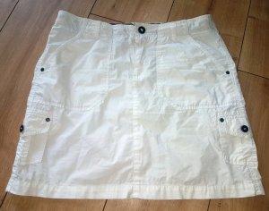 Arqueonautas Jupe cargo blanc coton