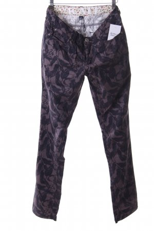 Arqueonautas Slim Jeans dark brown-black brown floral pattern casual look