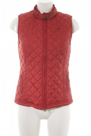 Arqueonautas Quilted Gilet russet quilting pattern classic style