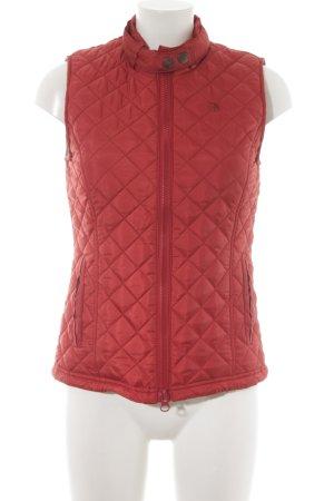 Arqueonautas Gewatteerd vest roodbruin quilten patroon klassieke stijl