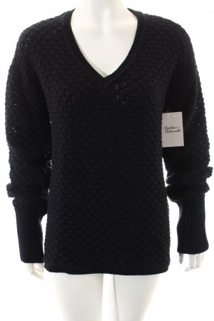 Arqueonautas Knitted Sweater dark blue casual look