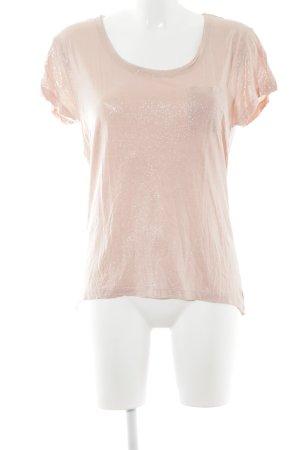 Arqueonautas T-Shirt apricot-silberfarben Glitzer-Optik