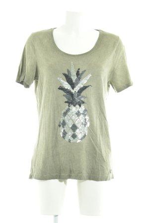 Arqueonautas T-shirt khaki casual uitstraling