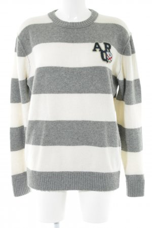 Arqueonautas Wool Sweater white-light grey striped pattern casual look