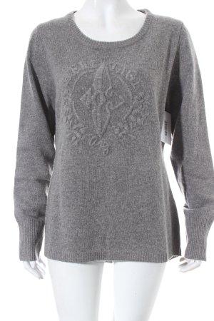 Arqueonautas Wollen trui grijs Webpatroon casual uitstraling