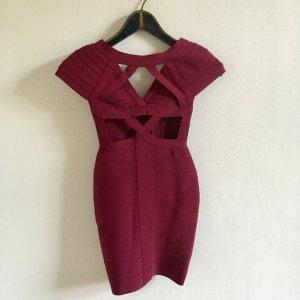 Arrogant Cat London Bodycon Dress Kleid Bondage Style in lila 34/XS Asos