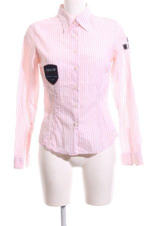 Arrow Shirt met lange mouwen roze-wit gestreept patroon zakelijke stijl